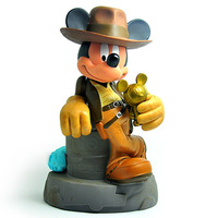 anime figure movie Raiders of the Lost Ark model mickey mouse figurine piggy bank classic toys christmas gift for boys kids