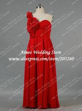 largo de gran tamaño amor de un hombro rojo tamaño más vestido de ...