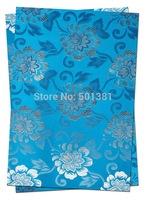 1set/lot, African Sego Headtie Gele & Ipele 2pcs in1bag, 1bag/lot, D/N 007   Turquoise blue
