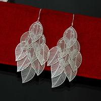 Hot Sale  Free Shipping 925 Silver Fashion Jewelry Big Pendiants  Drop Earrings For Women Wholesale EH033