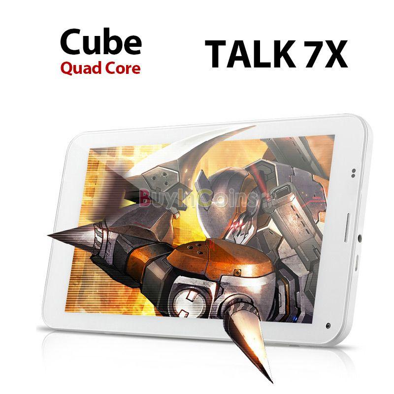 "7"" Cube Talk 7X U51GT-C4 Quad Core 3G Phone Android 4.2 Tablet PC Dual SIM 8GB #53697(China (Mainland))"