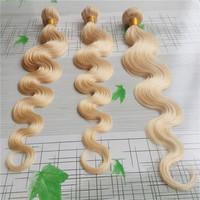 "Best Selling Bleach Blonde color 613 Body Wave Brazilian Virgin Human Hair Weave Body Wave 14""-26""3pcs mixed lengths"