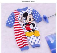 819 Promotional 2014 New cotton children Mickey Minnie baby boys girls Romper