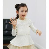 2014 Girls new pure cotton lace princess dress , dress baby girl , 5pcs/lot   CHQ02