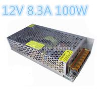 Free Shipping AC100V-240V Input 12V 8.3A 100W Switching Power Supply Driver For LED Strip light Display  12V Output