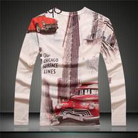 free shipping GSYF0040 2014 Fall new men's shirt full sleeve t-shirt causal menswear brand shirt slim shirt for men