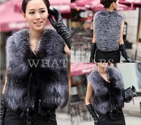 Free Shipping Womens Faux Fur Super Soft Sleeveless Waistcoat Vest Gilet Coat Jacket [3 70-6217]