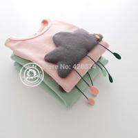 Sun female child m-320 handmade long-sleeve T-shirt 2
