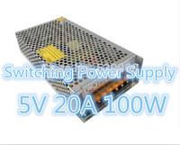 Free Shipping 5PCS/LOT AC100V-240V Input, 5V 20A 100W Switching Power Supply Driver For LED Strip light Display 5V Output