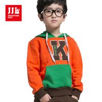 Boys Hoodie Sweatshirts Kids Letter Patch Big Pocket Size 3-16 Years Fashion NWT