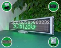 Free Ship/SC16128G/Led Message Board/desk screen/ 16*128PIXELS/Green/Scrolling sign/smd  0603/digital  table led /high bright
