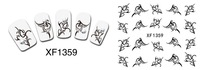 XF1356-1371 Free Shipping 20sheets/lot Mixed Series Cute Water Transfer Deco Nail art Water sticker
