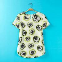 ST2031 New Fashion Ladies' vintage floral print T shirt basic short sleeve O neck Shirt casual slim brand designer tops