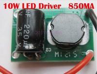 12V 10W LED Driver for 3x3W 9-11V 850mA high Power 10w led chip transformer, free shipping
