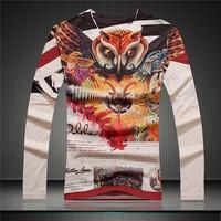 Free shipping GSYF0046 2014 Fall fashion men's shirt full sleeve t-shirt with high quality  shirt slim shirt for men