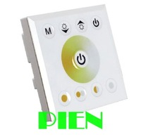 Wall-mounted Touch Panel dual Color led controller color Temperature Adjustable dimmer for WW/CW Dual color LED Strip 12-24V 8A