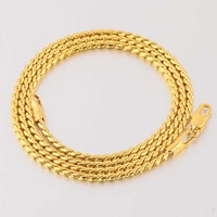 Classic 45CM 18k Yellow Gold Plated Snake Chain Necklace  Wholesale , 14C0453