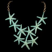 Fashion Women's Original Designed Trendy Starfish Necklace Gold / Green / Red / Coffee Handmade Chain Alloy Grace Jewelry