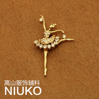 new 2014 Upscale elegant brooch ballet(freeshipping)