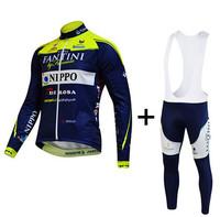 2014 Cycling Maglia vini Fantini Nippo Professional Team Long Jersey Long (bib) Pants Breathable Quick Dry Cycling Monton &045
