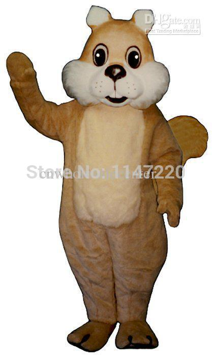 2014 High Quality Chubby Squirrel Mascot Costume Christmas Party Fancy Dress Outfit Suit(China (Mainland))