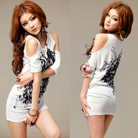 2014 Autumn New Novelty base backing shirt Woman clothes cute dress Free size t shirt tshirt dress LQ4157 vestidos femininos
