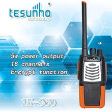 TESUNHO TH-360 long distance wireless 5w uhf encrypted 2 way radio