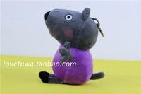 "Free shipping 1pcs 19cm=7.5"" High Qulaity Pepa Pig Plush Toys Peppa's Friend Dannie Dog baby birthday gift"