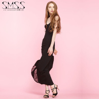 SMSS  summer V collar sling lace dress sexy slim dress