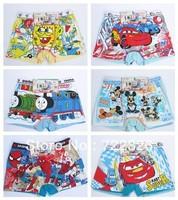 boys children underwear boxer shorts fit 3-10yrs kids baby cartoon panties clothing6pcs/lot more style free shipping