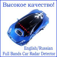 Car detector New Supercar  Anti Radar detector Russian/English Voice car alarm 360 Degrees vehicle speed control Radar detect