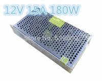 Free Shipping 5pcs/lot 12V Output  12V 15A 180W Switching Power Supply Driver For LED Strip light Display AC100V-240V Input