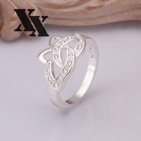 R256 925 Silver rings new design finger ring for lady
