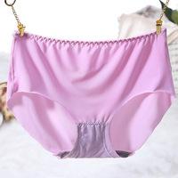 FREE SHIPPING 1PC women panties mid waist non-crevice underwear women super thin briefs Women's Clothing>>Intimates>>Panties