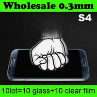 Advantage Wholesale High Quality Original Tempered Glass Screen Protector For Samsung Galaxy S4 i9500 without retail package