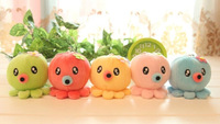 10PCS Kawaii 7CM Multi Colors Octopus Plush Stuffed TOY DOLL ; Sucker Car Window & Home Pendant TOY Wedding Gift CAR TOY DOLL