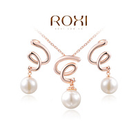 2015  Newest jewelry sets necklace earrings  bridal jewelry sets crystal rose gold plated jewelry findings crystal jewelrys set