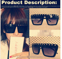 5093 ladygaga sunglasses Europe and the United States to restore ancient ways men and women rivet sunglasses