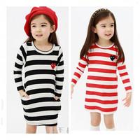 New Autumn 2014 Girls Long Sleeve Dress Baby & Kids Girl Dress Casual Striped Dress Children vestidos de menina Dresses
