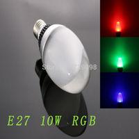 E27 10w RGB Crystal LED Light  Egg Bulb With IR Remote Controller (85V-265V)