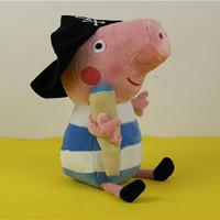 "Free shipping 1pcs 11.8"" High Qulaity Pepa Pig Plush Toys Georger Pirate baby & Kids birthday gift"