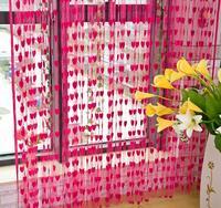 Core decoration curtain romantic heart curtain curtain lace curtain entranceway off line curtain