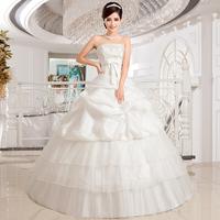 Love wedding dress 2014 new romantic princess lace bow tie Bra mopping straps wedding