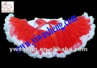 Wholesale cheap free shipping red/white pettiskirt