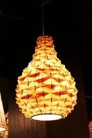Bamboo pineapple rustic pendant light bamboo pendant light lighting casual restaurant living room lighting fixtures