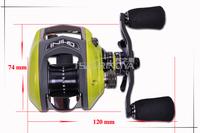 HAIBO OURBEST GHINI 50CS 10BB Right hand Fishing Reel Bait Casting Reel all metal framework Micro throwing Lure Reel