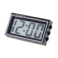 Mini Digital LCD Auto Car Truck Dashboard Date Time Calendar Clock Black H1E1
