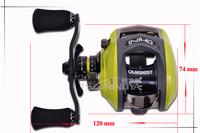 OURBEST GHINI 50CS 10BB Left  hand Fishing Reel Bait Casting Reel all metal framework