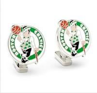 Mens Palladium Boston Celtics Cufflinks W New Collectible Gift Box