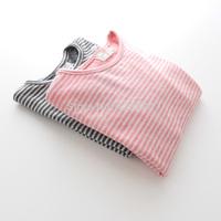 Sun female child m - 399 cotton stripe long-sleeve T-shirt basic shirt